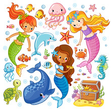 Mermaids Among The Fishes Hold...