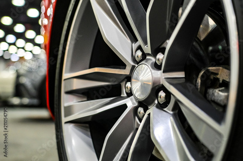 Close up of rims from a sports car Fototapet