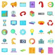 Different analytics icons set. Cartoon style of 36 different analytics vector icons for web isolated on white background