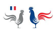 French Rooster. Isolated Roost...