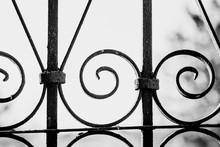 Wrought Iron Lattice Pattern Close-up.