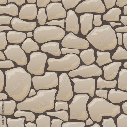 Wektorowa bezszwowa tekstura kamienie w brown kolorach.