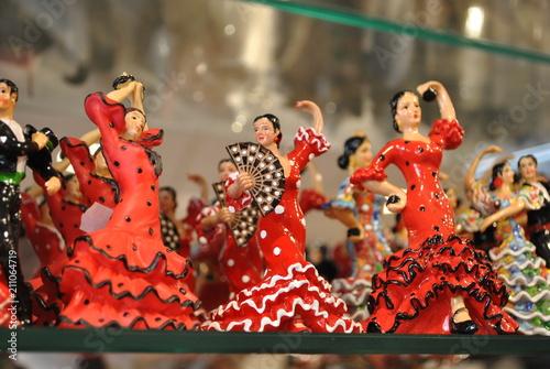 Figurki tancerek flamenco Canvas Print