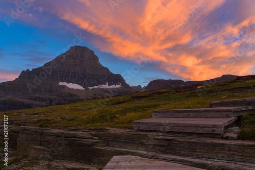 Fotografia, Obraz  Glacier National Park Sunset
