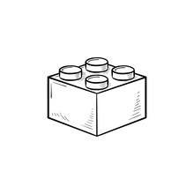 Building Block Hand Drawn Outl...