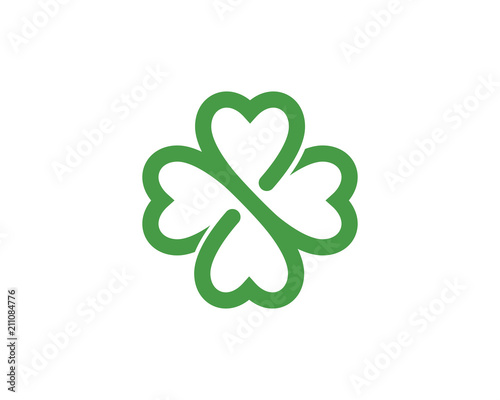 Fotografia Green Clover Leaf Logo Template