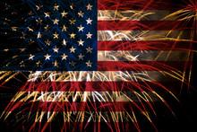 United States Flag Fireworks O...