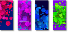 Backgrounds With Colorful Geometric 3d Cubes Pattern.