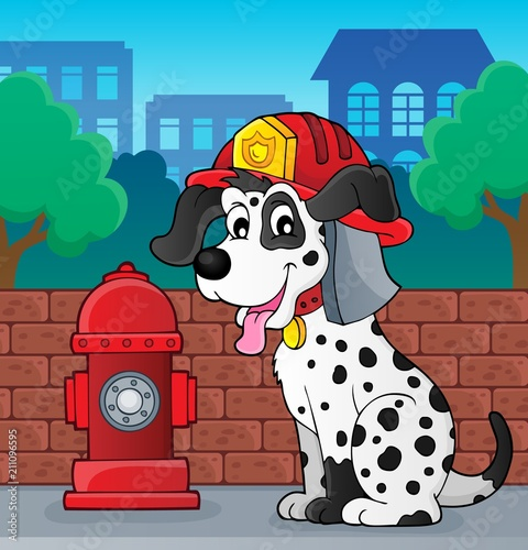 Recess Fitting For Kids Firefighter dog theme 2