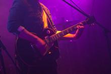 Guitarist Plays On Guitar In P...