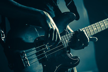 Electric Bass Guitar Player Ha...
