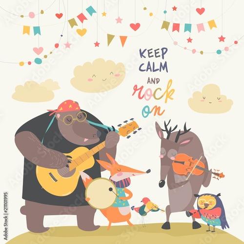 Uroczy zespół muzyczny zwierząt