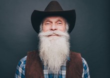 Portrait Of Happy Bearded Seni...