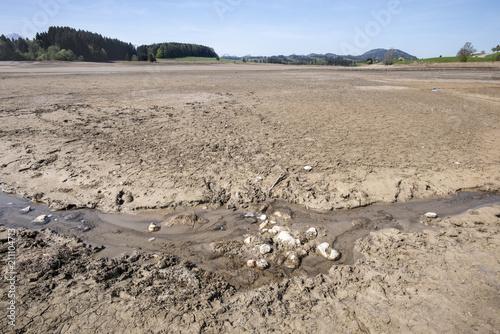 Fotografie, Obraz  Dürre und Trockenheit wegen Wassermangel