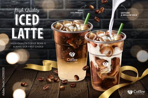 Fotografia, Obraz Iced latte ads