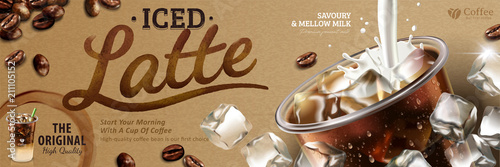 Iced latte banner ads