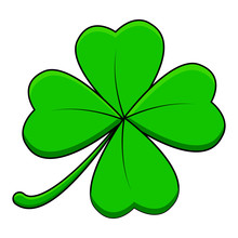 Four Leaf Clover Design Isolat...
