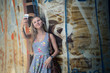 Touristin, junge Frau, macht Selfi