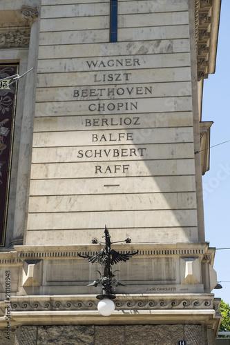 In de dag Theater Namen von Komponisten am Konzertgebäude
