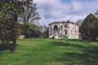 Leinwanddruck Bild - April, 14th, 2017 - Potsdam, Brandenburg, Germany. Family mansion building. Reach prussian villa or victorian manor in Potsdam by spring sunny day.