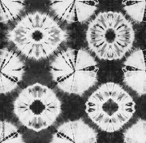 5c0282a1 Seamless pattern, abstract tie dyed fabric of black color on white cotton.  Hand painted fabrics. Shibori dyeing