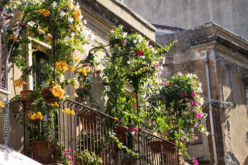 Fotografie, Obraz  Balcony with flowers