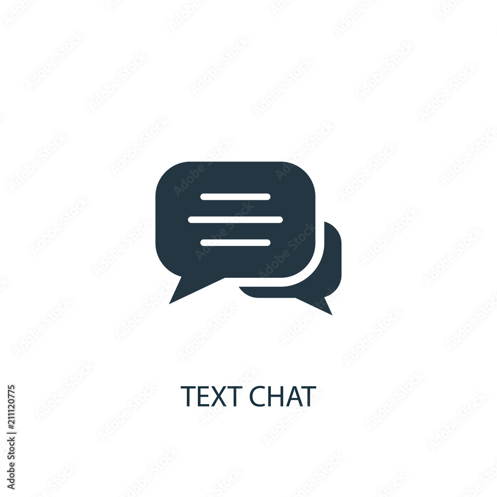 Fototapeta text chat icon. Simple element illustration