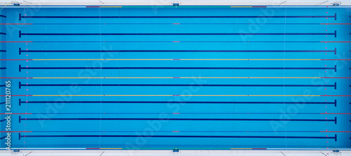 Obraz Image of swimming pool. The top view *** Local Caption *** Image of swimming pool. The top view - fototapety do salonu