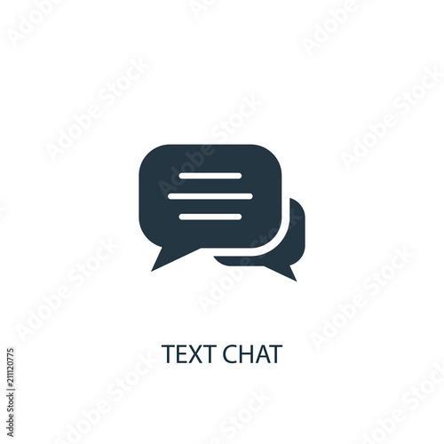 Obraz text chat icon. Simple element illustration - fototapety do salonu
