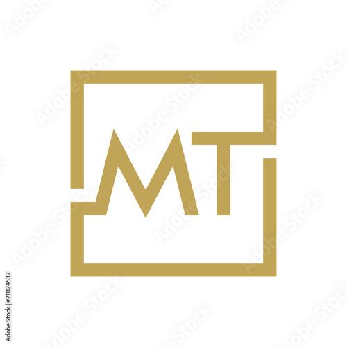 Obraz na plátně two letter logo line square MA TO MZ