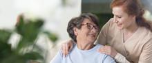 Close-up Of A Tender Caregiver...