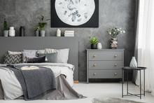 Monochromatic Grey Bedroom Int...