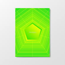 Creative Poster With Blend Gradient And Web. Color Button With A Geometric Blend Stroke Grid. Album Format, A4, A3, A2.
