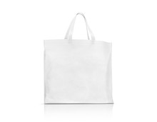 Blank White Fabric Canvas Bag For Shopping And Save Global Warming