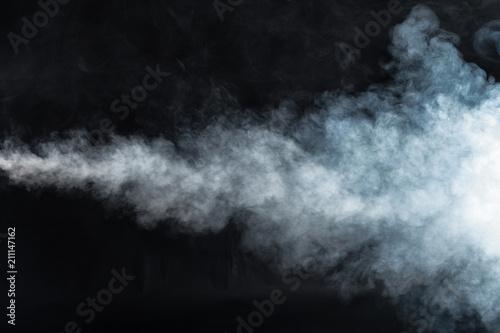 Printed kitchen splashbacks Artist KB Smoke on black background