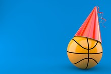 Basketball Ball With Party Hat