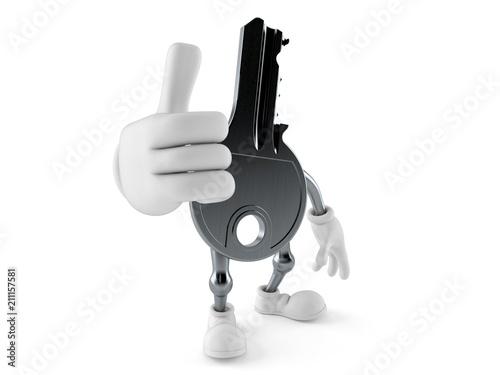 Fotografie, Obraz Door key character with thumbs up