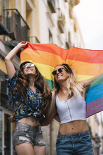 Couple Lesbian Woman With Gay ...