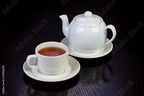 Spoed Foto op Canvas Thee Hot cup of tea