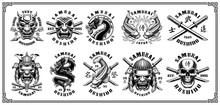 Set Of Samurai Emblems (for Wh...