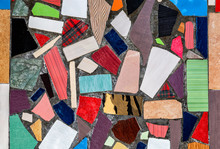 Abstract Multicolored Ceramic Mosaic Background