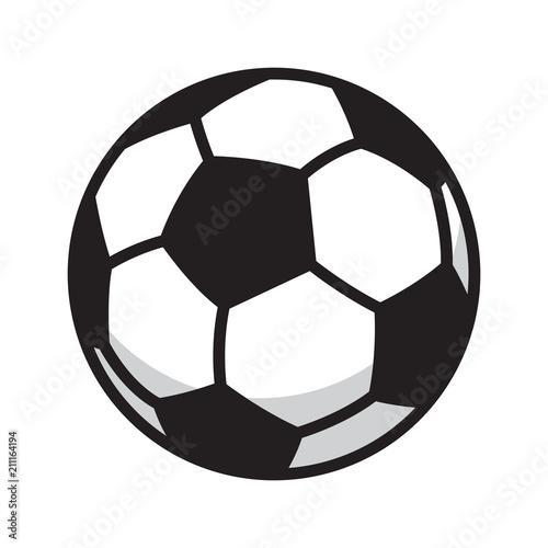 In de dag Bol soccer ball vector football icon logo symbol illustration cartoon graphic