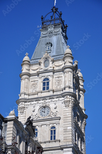 Quebec Parliament is a Second Empire architectural style building in Quebec City, Canada Poster