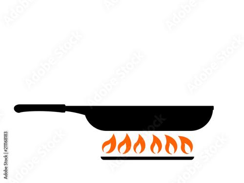 Valokuva Frying in pan icon