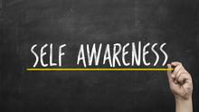 Self Awareness Concept. Hand W...
