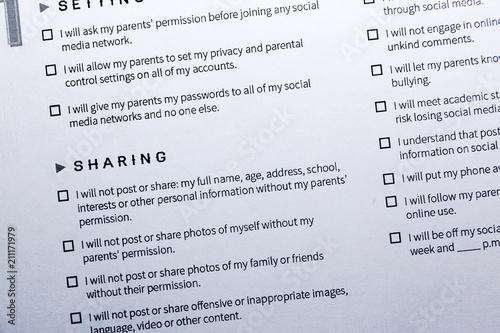 Parent Teen Contract >> Parent Child Social Media Contract Contract Regulating
