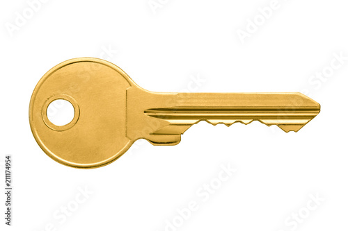 Fotomural  Golden key apartment isolated on white background
