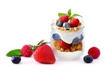 Healthy Berry Fruit Parfait In...
