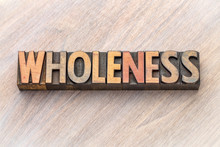 Wholeness Word Abstract In Vin...