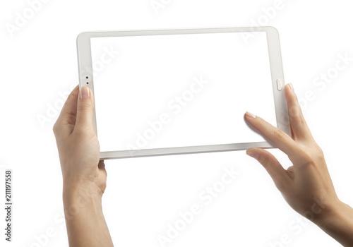 Fotografia  Hands with tablet